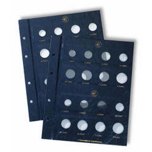 Leuchtturm 315537 hojas para monedas VISTA, de Euro neutral para 2 ser