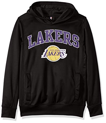 Outerstuff NBA by NBA Youth Boys Los Angeles Lakers Loose Ball Performance Hoodie, Black, Youth X-Large(18) Youth Hoodie