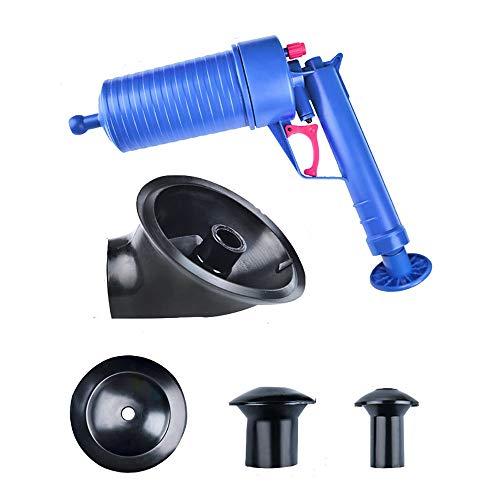 YLXD Pressluft-Rohrreiniger,Abflußreiniger Toiletten-Luftstößel,Druckluft Rohrreiniger mit 4 Art Saugnäpfen, für Toilette, Badewanne, Dusche, Wanne