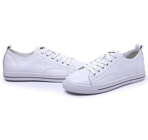 Damen Sneaker Unsichtbar Erhöhung Rundzehen Flach Einfach Klassisch Bequem Atmungsaktiv Rutschhemmend Sportlich Freizeit Schnürschuhe Weiß
