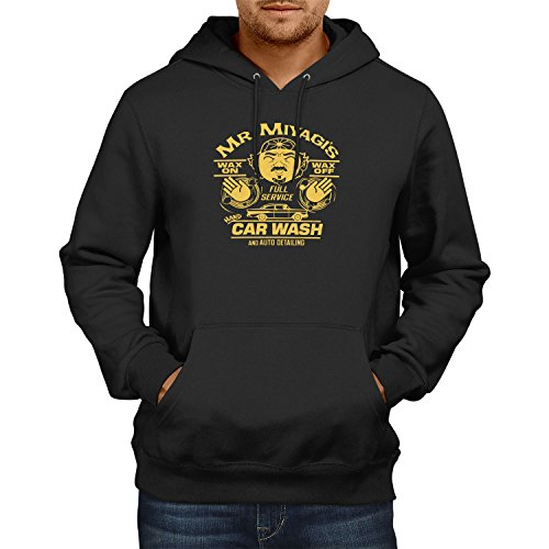 TEXLAB - Mr. Miyagi's Car Wash - Herren Kapuzenpullover, Größe XXL, schwarz (Mr T Kostüm Xxl)