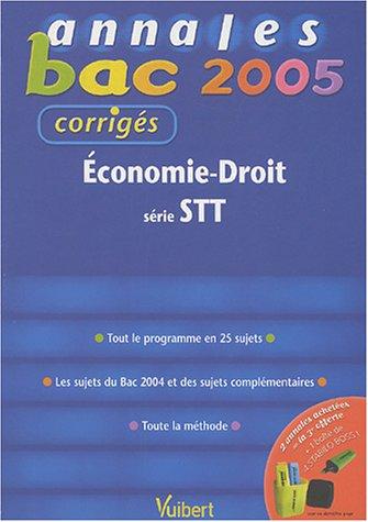 Economie-Droit bac STT : Corrigés
