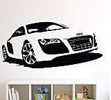 mmwin Kreative Große Auto Audi Sport Auto Wandtattoo Aufkleber DIY Wohnkultur Rennwagen Wandpapier Vinyl Wandbild Wandtattoo42 * 90 cm