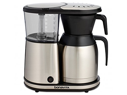 Bonavita BV1900TS 8 Cup Coffee Maker With Thermal Carafe (Black & Stainless) by Bonavita