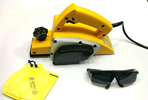 Tools CENTRE'S Powerful Electric Wood Hand Planer with Free Goggles & Safety MASK to Ensure Your Safety. -