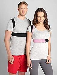 BeFit24 Rücken-Geradehalter zur Haltungskorrektur für Damen und Herren - Rückenstütze für Haltung - Schultergurt als Rückenstabilisator - Rückengurt - Made in EU - Size 2 - Schwarz