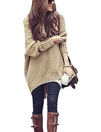 Jersey Mujer Otoño Invierno Elegantes Moda Sudadera Capucha Color Sólido  Irregular Manga Larga Anchos Clásico Hoody 0bb4eb760492