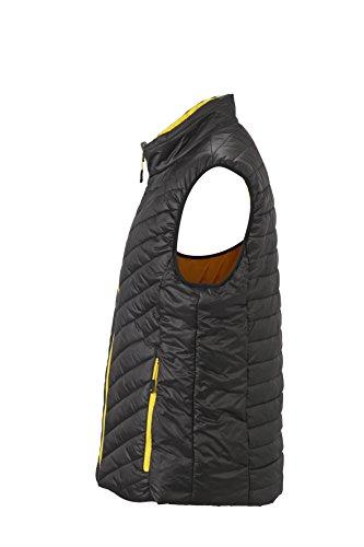 James & Nicholson–Lightweight Vest Gilet nero/giallo