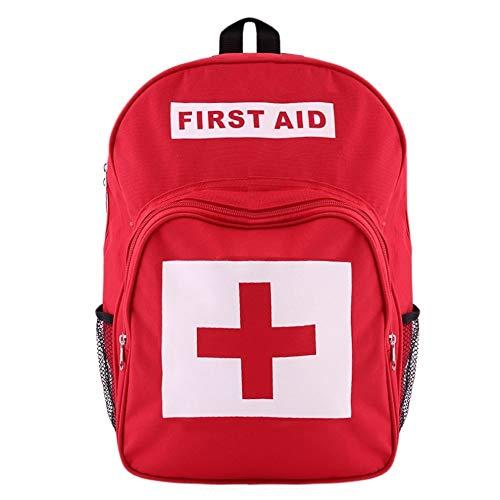 Qnlly Rote Erste-Hilfe-Tasche leer, Erste-Hilfe-Beutel klein Mini wasserdicht, Erste-Hilfe-Kits Pack Notfall zum Wandern Rucksack Camping Reisen Auto Radfahren