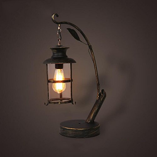WCUI Iron table lamp,Retro Industrial Punk Water Pipe Metal Desk Lamps Bedside Nightstand Bedroom Living Room Cafe Bar Home Lamp Fixture(Bulbs not Included) Select ( Size : #1 )