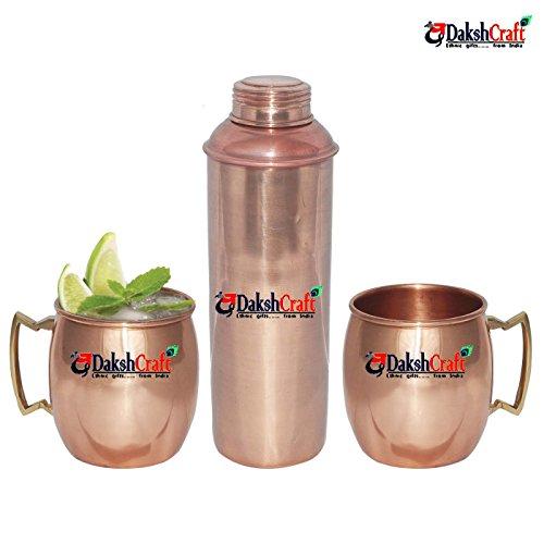 DakshCraft ® puro congiunto rame bottiglia acqua (capacità - 799
