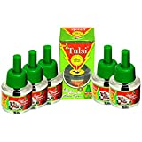 TULSI Herbal Liquid Mosquito Repellent Vaporizer Refill (Set Pack Of 5)