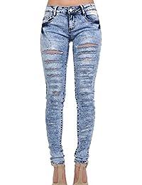 PILOT® mi hausse maigre jeans déchirés