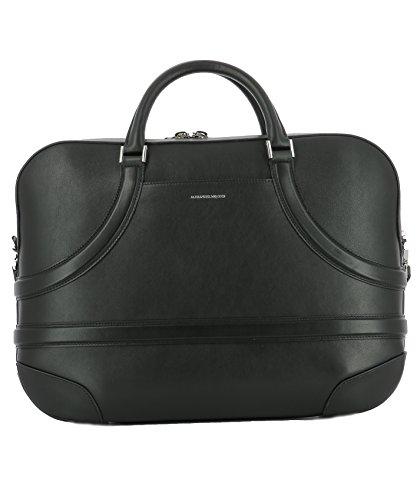 Alexander-Mcqueen-Mens-474520D780N1000-Black-Leather-Briefcase