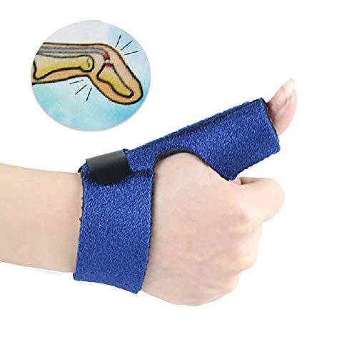 Finger Splint Finger Schiene, Verstellbarer Befestigungsgürtel zur Flexion Verlängerung Rehabilitation Takt,Left -