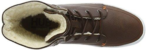 Hub Vermont L30 Damen Stiefel Braun (Dark Brown/White 002)