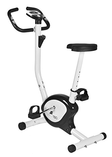 Heimtrainer Ergometer Fahrradtrainer Fahrrad Bike Fitness Fitnessbike #2395, Farbe:Weiß