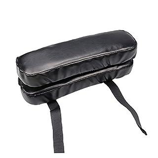 TIMLand PU Stuhl Armlehne Pad, Armrest Pads mit Anti-Rutsch Riemen, Memory Foam Chair Elbow Pain Relief,für Büro und Zuhause