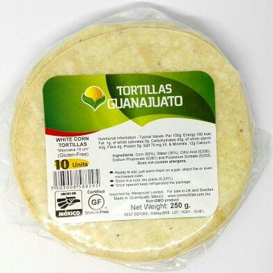 Weiße Maistortillas 15 cm. – glutenfrei