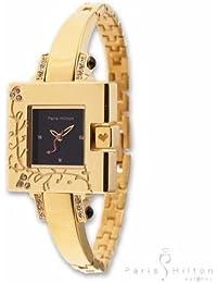 Paris Hilton 12007 - Reloj para mujeres, correa de acero inoxidable color dorado