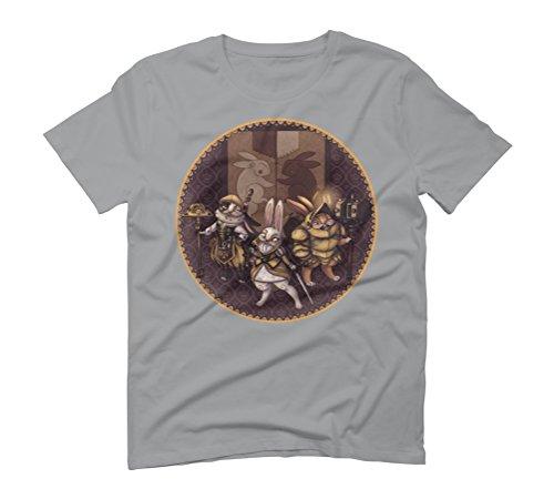 Rabbit Clan Men's Graphic T-Shirt - Design By Humans Opal