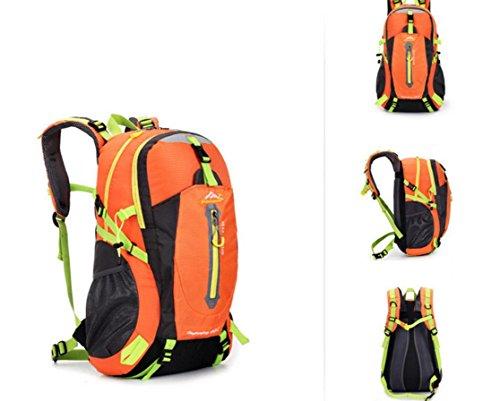 All'aperto alpinismo borsa zaino borsa grande per uomini e donne 50L multiuso impermeabile zaino escursionismo zaino , black Orange