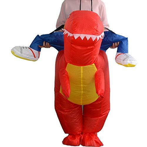 Wenwenzui Lustige aufblasbare Dinosaurier reiten Kleidung Party Cosplay Blowup kostüm rot Erwachsene (Reiten Aufblasbare Dinosaurier Kostüm)