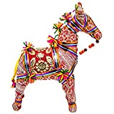 Sangeeta Collection Ethnic Indian Traditional Rajasthani Horse Stuffed Toy Use For Home Office Decor (Large, 9 Inch)