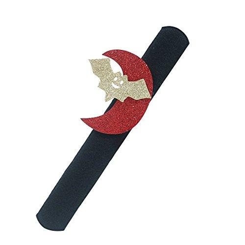 Hosaire 1x Cartoon Armband Kreative Armband Halloween Requisiten Dekoration Geist Festival Kinder Geschenk Spielzeug 21 * 2.5cm Roter Mond (Von Requisiten Halloween Geist)