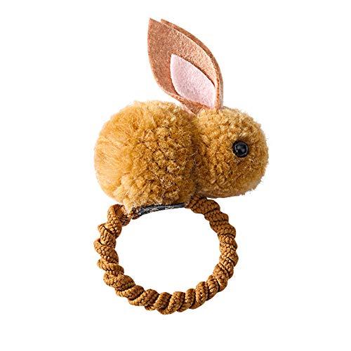 6SHINE Haarband Pferdeschwanz Halter Kinder Haarschmuck für mädchen Mode Kinder Party niedlichen Tier elastische bobbles n fühlte üsch Kaninchen(Gelb)
