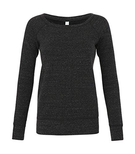 Bella - Mia Slouchy Wideneck Sweatshirt / Charcoal Triblend, S S,Charcoal Triblend