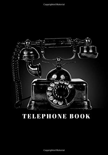 telephone book: telephone numbers only book no addresses a5 size, blank telephone book for your records phone number home, office, mobile, large print, retro phone cover design