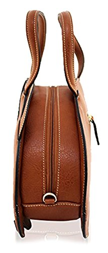 Kukubird Animal PIG Shape Faux Leather Handbag KHAKI