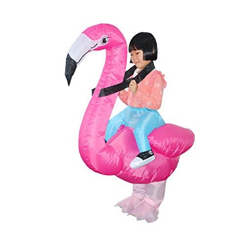 Baby Kostüm Illusion - Happyyami Flamingo Aufblasbares Kostüm Lustig Kostüm Halloween Party Kostüm für Halloween Cosplay Geschenk Zubehör (Rosa)