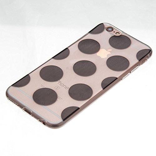 Coque iPhone 6S,Coque iPhone 6,Coque Étui Case pour iPhone 6S / 6,ikasus® Coque iPhone 6S / 6 Silicone Étui Housse Téléphone Couverture TPU avec modèle soleil de l'Inde fleurs de Daturamotif Ultra Min Noir Cercles