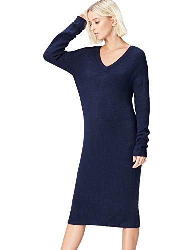 - Marine Kleid Blau