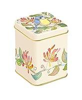 Jardin Oiseaux–Emma Ball Jardin Oiseaux sur motif Chèvrefeuille–Petit carré Boîte à thé 100g/cuisine Boîte de rangement–9cm