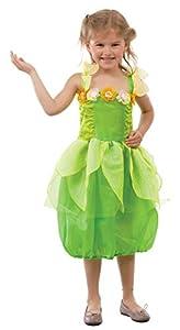 Guirca - Disfraz de hada princesa, para niños de 5-6 años, color verde (81029)