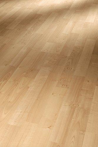 Parador Klick Laminat Bodenbelag Basic 200 Ahorn Natur Schiffsboden 3-Stab Holzstruktur 2,991m² hochwertige Holzoptik hell beige, 7 mm, einfache Verlegung -