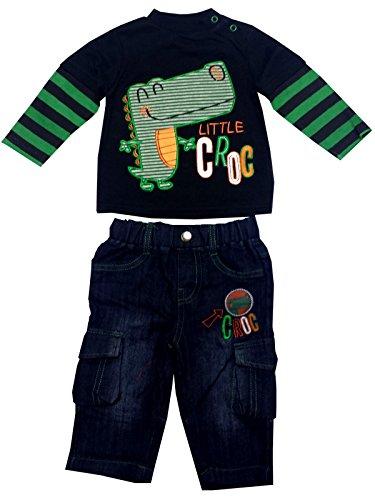 Lily & Jack Kids Croc Applique Top und Jeans Set Alter von 6-12 Monaten -