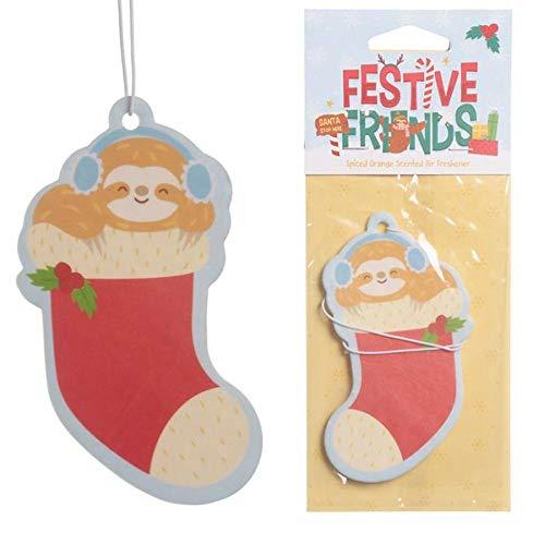 Publilancio SRL 3Unidades Desodorante para Coche para de Navidad navideño AL Naranja