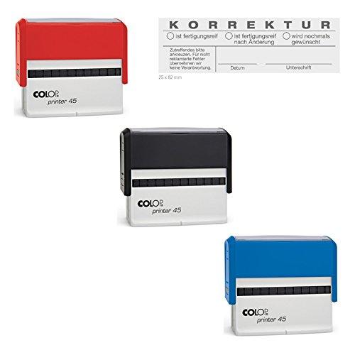 COLOP Printer Stempel Rechteck Länglich VERSCHIEDENE GRÖßEN (45)