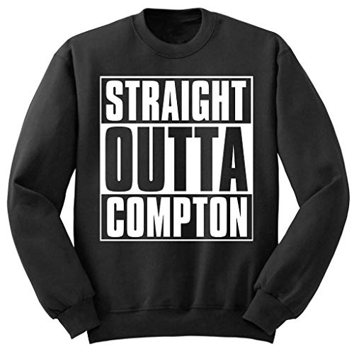 NWA Straight Outta Compton Pullover (S-2XL) Dr DRE Yella Easy E Snoop Dogg - Schwarz, X-Large