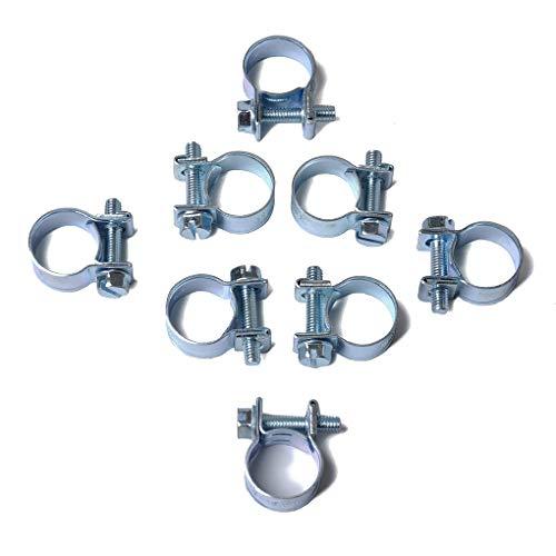 Gankmachine 10PCS / Set 8-10MM Schlauchschelle Rundrohrschelle Luft-Wasser-Schlauch-Clips Wasserrohr Fasteners Kraftstoff Schlauchschellen