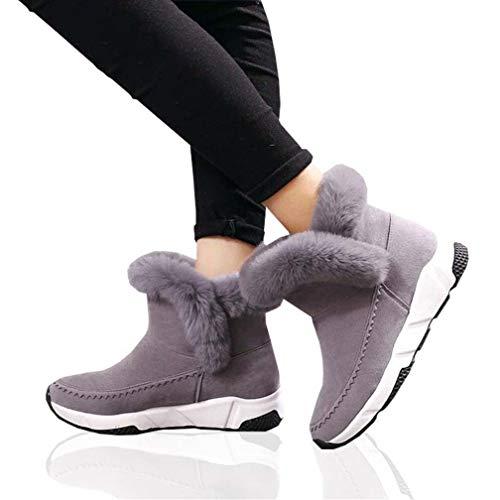 FGJOPWinterFrauen Schuhe Frau Schnee Stiefel Ankle Warme Plattform Keil Mode Femme Damen BootSchuhe, 39 EU