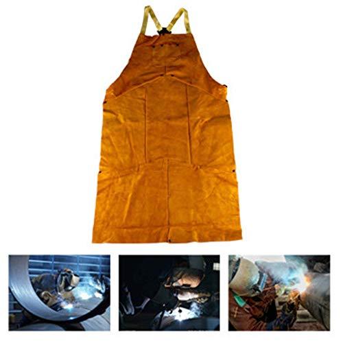 TYXHZL Schweißen Leder Schweißen Schmied Anti-Verbrühung flammhemmende Isolierung hohe Temperatur, um Papa Schürze zu senden (Schürze Leder Schmied)
