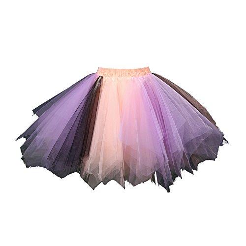 Honeystore Damen's Tutu Unterkleid Rock Abschlussball Abend Gelegenheit Zubehör Koralle Lila Schwarz
