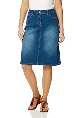 60cadb7fe7 Roman Originals Women A-Line Cotton Pocket Denim Skirt - Ladies Short Knee  Length A-Line Casual Work Summer Going Out Holiday Jean Aline Straight ...