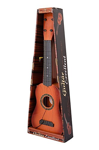 FIZZYTECH 18 inch 4-String Guitar Toy for Kids with Adjustable Tuning Knobs for Intellectual Development & Musical Ability, Random Color Small Size