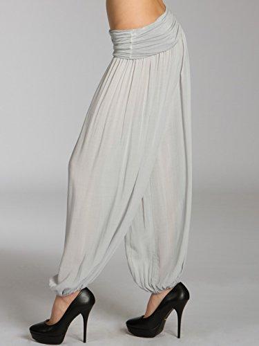 CASPAR KHS035 Pantalon bouffant casual pour femme gris clair